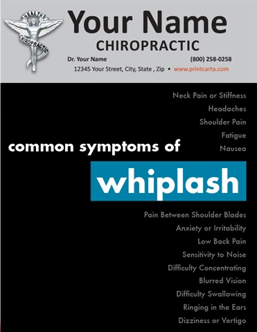 Common Symptoms of Whiplash
