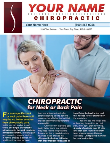 Chiropractic for Neck or Back Pain