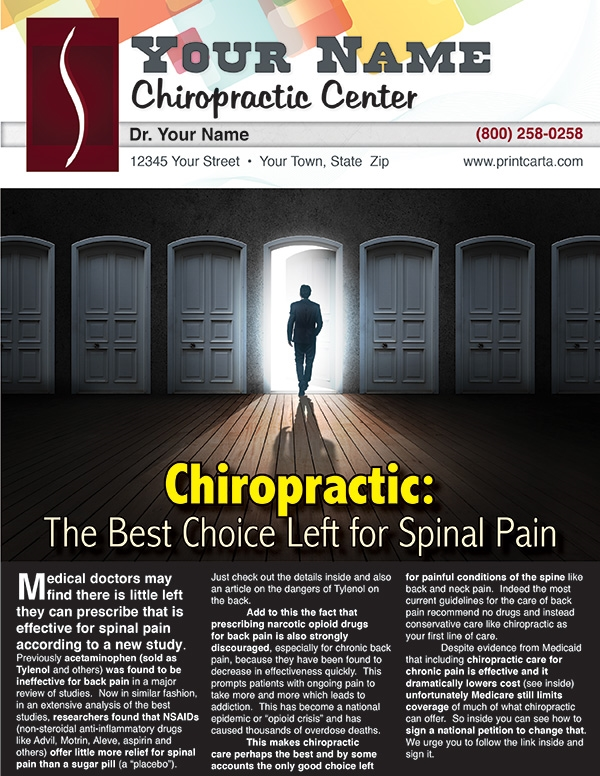 Chiropractic: The Best Choice Left for Spinal Pain
