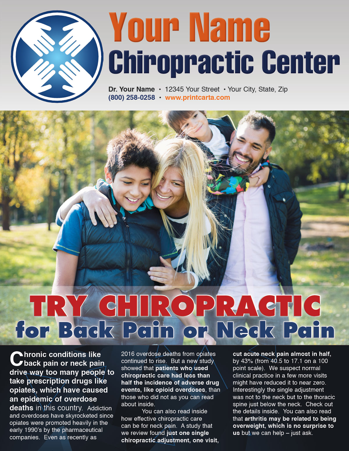 Try Chiropractic for Back or Neck Pain